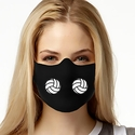 Double Volleyball Design 1-Ply Jersey Face Mask in 10 Color Options