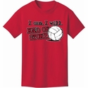 End Of Story Design Red Volleyball T-Shirt