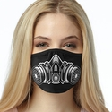 Gas Mask Design 2-Ply Face Masks - Choice of Several Mask Options