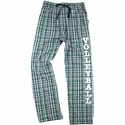 Green / White / Black Flannel Plaid PJ Lounge Pants - Choice of 22 Sport Prints on Leg