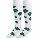 Green Shamrocks Over-Calf KraziSox
