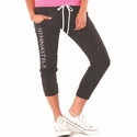 Gymnastics Printed Grey Heather Soffe Pocket Capris
