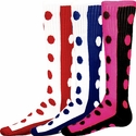 Half & Half Knee High Polka Dot Socks - 5 Color Options