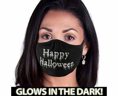 Happy Halloween Glow In The Dark 2-Ply Face Mask