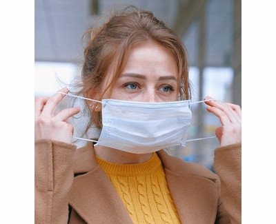 Health Protection Blue Expandable Face Masks