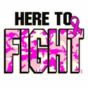 Here To Fight Cancer Awareness T-Shirt - in 22 Shirt Colors