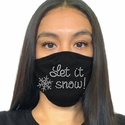 Let It Snow Rhinestone Bling 2-Ply Face Masks in 7 Mask Colors
