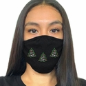Lighted Trees 2-Ply Rhinestone Bling Face Masks in 7 Mask Colors