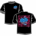 Love Volleyball Heart Design Black T-Shirt