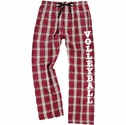 Maroon & Vegas Gold Flannel Plaid PJ Lounge Pants - Choice of 22 Sport Prints on Leg
