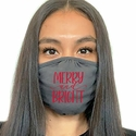 Merry & Bright Design 2-Ply Face Mask in 3 Color Options