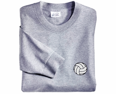 Mini Volleyball Logo Discount Long Sleeve Shirt - in 3 Shirt Colors
