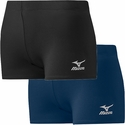 Mizuno Core Hybrid Vortex Spandex Shorts - in Black or Navy Blue