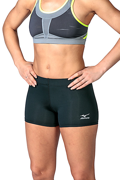 mizuno women's core flat front volleyball shorts 2017