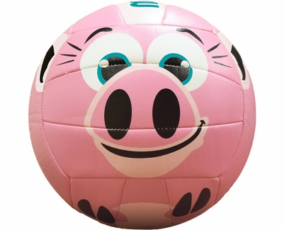 Molten Pink Pig Smiley Face Mini Volleyball