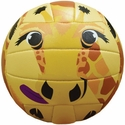 Molten Yellow Giraffe Smiley Face Mini Volleyball