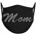 Mom Script Bling Rhinestone Face Mask - 6 Color Options