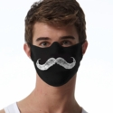 Mustache Design 1-Ply Jersey Face Mask in 10 Color Options