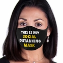 My Social Distancing Design 2-Ply Face Masks in Choice of 2 Colors