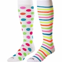 Neon Dots & Stripes Knee High KraziSox - 2 Color Options