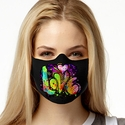 Painted Love Design Jersey Face Mask in 8 Color Options