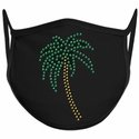 Palm Tree Design Bling Rhinestone Face Mask - 6 Color Options