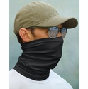Paragon Sun Protection Neck Gaiter / Face Cover in Black