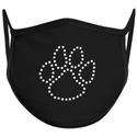Paw Print Design Bling Rhinestone Face Mask - 6 Color Options