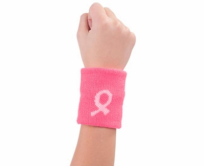 Pink Ribbon Breast Cancer Awareness Wristbands