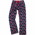 Navy w/ Pink Ribbons Cancer Awareness PJ Pants - Choice of 22 Sports on Leg or Rear