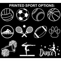 Sport Printed 2-Ply & 3-Ply Face Masks in 10+ Sports & 6 Mask Colors