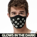 Pumpkin Faces Glow In The Dark 2-Ply Face Mask