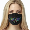 Rainbow Butterfly Design 2-Ply Face Masks in Choice of 3 Colors