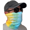 Rainbow Tie Dye Neck Gaiter / Face Covering