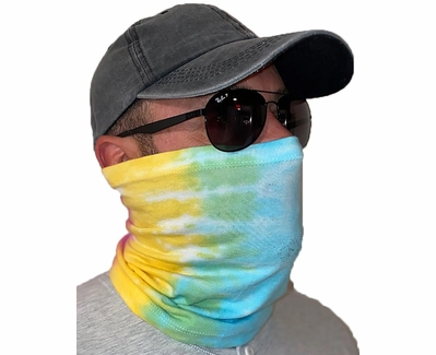 Rainbow Tie Dye Neck Gaiter / Face Covering - Choice of 10+ Sports