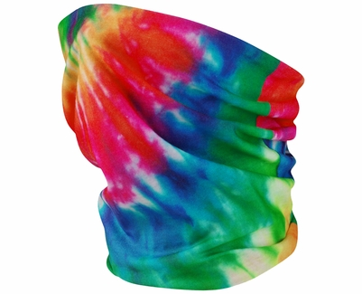 Rainbow Tie Dye UV Sun Protection Neck Gaiter - Choice of 10+ Sports