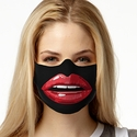 Red Lips Design Jersey Face Mask in 8 Color Options