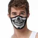 Skull Face Design 2-Ply Face Masks - Choice of Several Mask Options