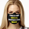 Social Distancing Design 1-Ply Jersey Face Mask in 10 Color Options