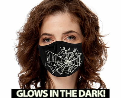 Spider Web Glow In The Dark 2-Ply Face Mask