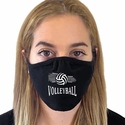 Spiral Volleyball & Net Design 2-Ply & 3-Ply Face Masks in 6 Color Options