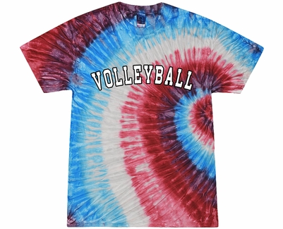 Sport Printed Red White Blue Tie Dye T-Shirt - Choice of 22 Sports