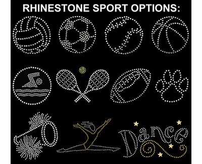 Sport Rhinestone 2-Ply & 3-Ply Face Masks in 10+ Sports & 7 Color Options