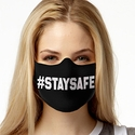 Stay Safe Design 1-Ply Jersey Face Mask in 10 Color Options