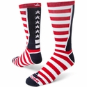 Team USA Stars & Stripes Red White & Blue Crew Socks
