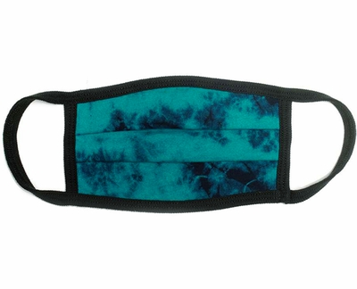 Tie-Dye Dark Teal & Navy Sportsman Maverick Comfort Face Mask