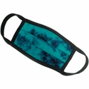 Tie-Dye Dark Teal & Navy Ear Loop & Pleated Expansion Face Mask