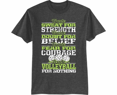 Trade Volleyball For Nothing Design Dark Heather T-Shirt