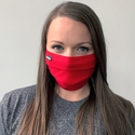 Red Tultex Premium Kaiser Style Cotton Pleated Face Mask