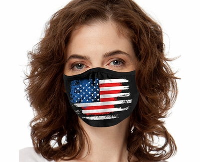 USA Flag Design 2-Ply Face Mask in 3 Color Options